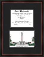 Louisiana State University Diplomate Framed Lithograph with Diploma Opening