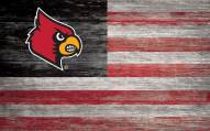 "Louisville Cardinals 11"" x 19"" Distressed Flag Sign"