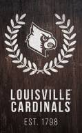 "Louisville Cardinals 11"" x 19"" Laurel Wreath Sign"