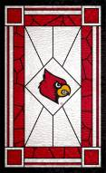 """Louisville Cardinals 11"""" x 19"""" Stained Glass Sign"""