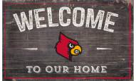 """Louisville Cardinals 11"""" x 19"""" Welcome to Our Home Sign"""