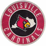 """Louisville Cardinals 12"""" Circle with State Sign"""