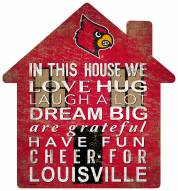 "Louisville Cardinals 12"" House Sign"