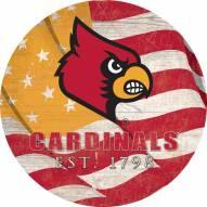 "Louisville Cardinals 12"" Team Color Flag Circle Sign"