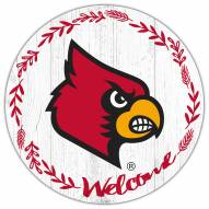 """Louisville Cardinals 12"""" Welcome Circle Sign"""