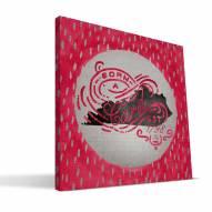"Louisville Cardinals 12"" x 12"" Born a Fan Canvas Print"