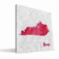 "Louisville Cardinals 12"" x 12"" Home Canvas Print"