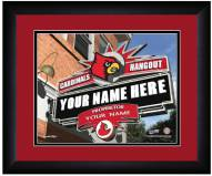 Louisville Cardinals 13 x 16 Personalized Framed Sports Pub Print