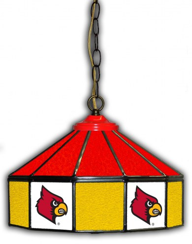 "Louisville Cardinals 14"" Glass Pub Lamp"