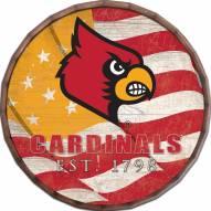 "Louisville Cardinals 16"" Flag Barrel Top"