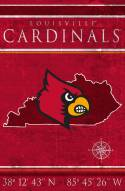 "Louisville Cardinals 17"" x 26"" Coordinates Sign"