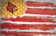 """Louisville Cardinals 17"""" x 26"""" Flag Sign"""