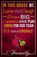 """Louisville Cardinals 17"""" x 26"""" In This House Sign"""