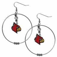 """Louisville Cardinals 2"""" Hoop Earrings"""