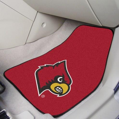 Louisville Cardinals 2-Piece Carpet Car Mats