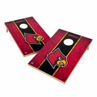 Louisville Cardinals 2' x 3' Vintage Wood Cornhole Game