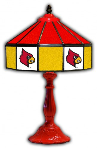 "Louisville Cardinals 21"" Glass Table Lamp"