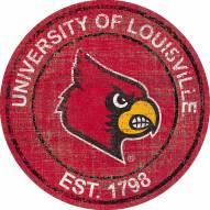 """Louisville Cardinals 24"""" Heritage Logo Round Sign"""