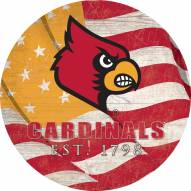 "Louisville Cardinals 24"" Team Color Flag Circle Sign"