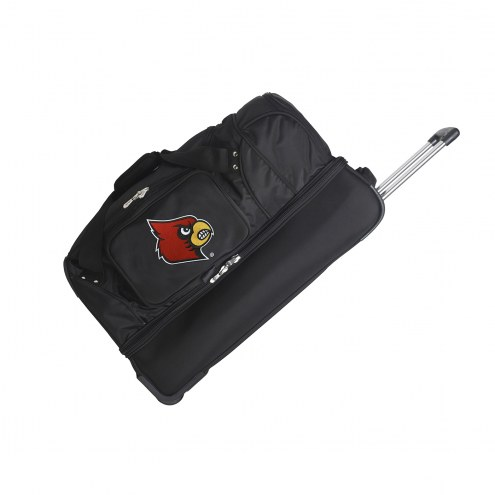 """Louisville Cardinals 27"""" Drop Bottom Wheeled Duffle Bag"""