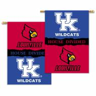 "Louisville Cardinals 28"" x 40"" House Divided Banner"