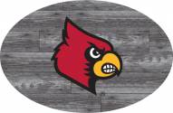 """Louisville Cardinals 46"""" Distressed Wood Oval Sign"""