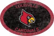 "Louisville Cardinals 46"" Team Color Oval Sign"