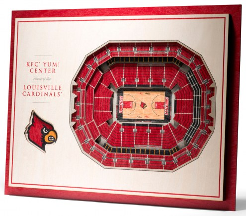 Louisville Cardinals 5-Layer StadiumViews 3D Wall Art