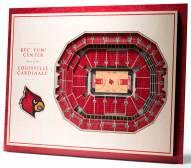 Louisville Cardinals 5-Layer StadiumViews 3D Wall Art