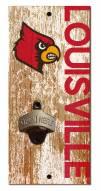 "Louisville Cardinals 6"" x 12"" Distressed Bottle Opener"