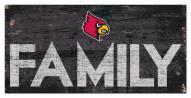 "Louisville Cardinals 6"" x 12"" Family Sign"