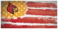 """Louisville Cardinals 6"""" x 12"""" Flag Sign"""