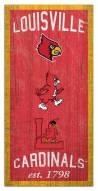 "Louisville Cardinals 6"" x 12"" Heritage Sign"