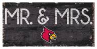 """Louisville Cardinals 6"""" x 12"""" Mr. & Mrs. Sign"""