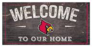 "Louisville Cardinals 6"" x 12"" Welcome Sign"
