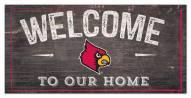 "Louisville Cardinals 6"" x 12"" Welcome Sign"