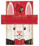 "Louisville Cardinals 6"" x 5"" Easter Bunny Head"
