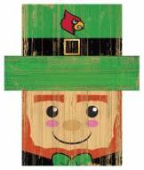 "Louisville Cardinals 6"" x 5"" Leprechaun Head"