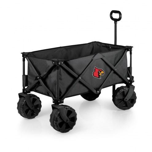 Louisville Cardinals Adventure Wagon with All-Terrain Wheels
