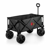 Louisville Cardinals Adventure Wagon with All-Terrain Wheels