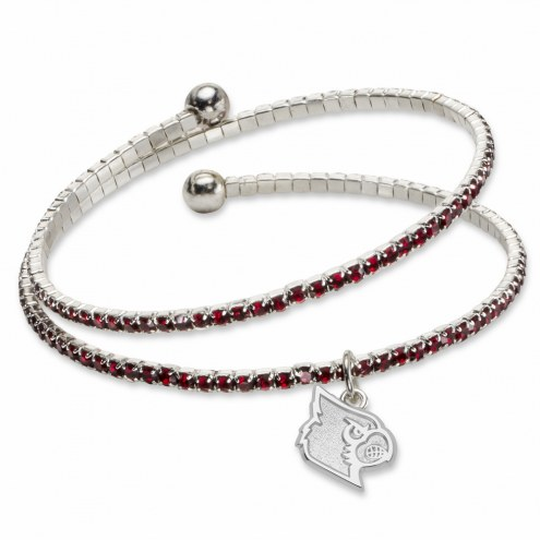 Louisville Cardinals Amped Logo Crystal Bracelet