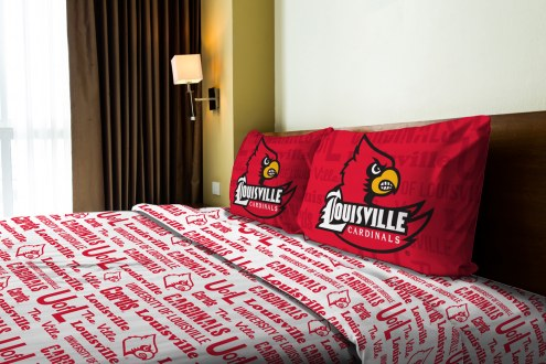 Louisville Cardinals Anthem Full Bed Sheets