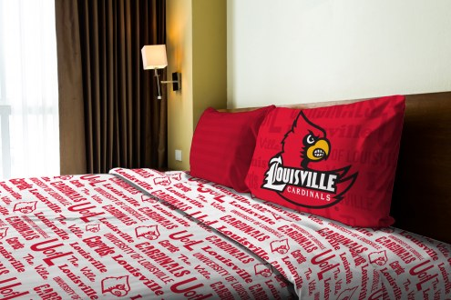 Louisville Cardinals Anthem Twin Bed Sheets