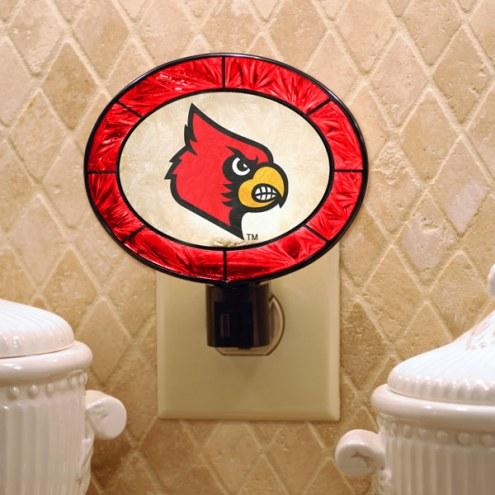 Louisville Cardinals Art Glass Night Light