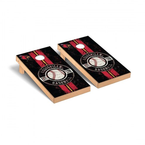 Louisville Cardinals Baseball Vintage Cornhole Game Set