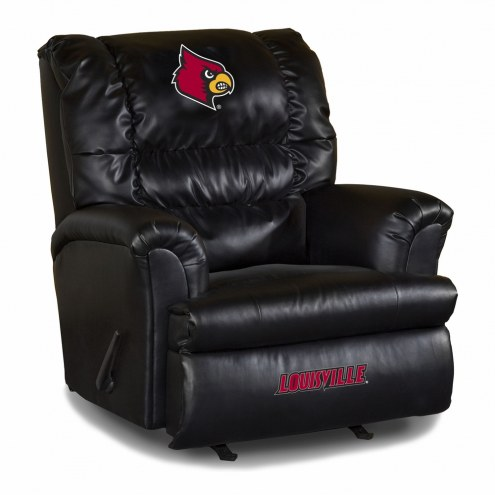 Louisville Cardinals Big Daddy Leather Recliner