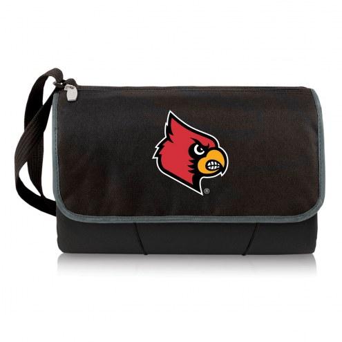 Louisville Cardinals Black Blanket Tote