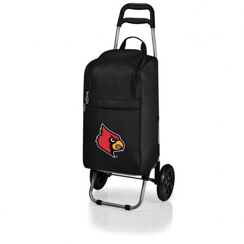 Louisville Cardinals Black Cart Cooler