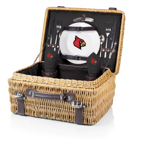 Louisville Cardinals Black Champion Picnic Basket