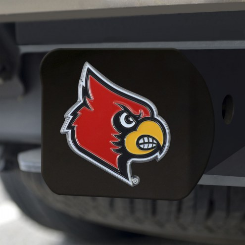 Louisville Cardinals Black Color Hitch Cover